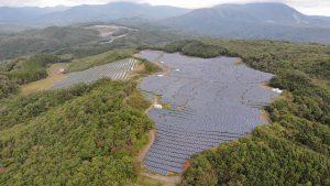 太陽光発電所ドローン点検